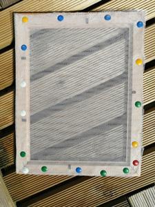 Cadre tamis pour papier recycle
