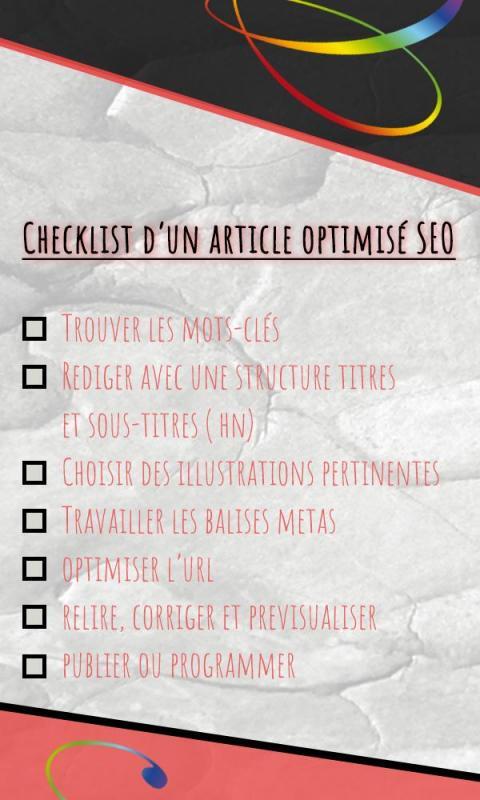 Checklist d un article seo