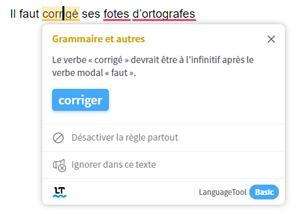 correcteur orthographe article blog