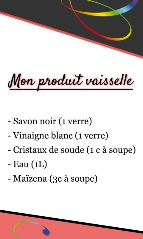 Etiquette produit vaisselle