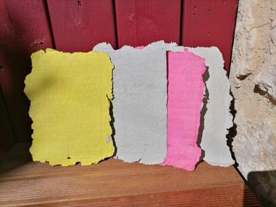 Feuilles papier recycle fait maison
