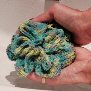 Fleur de douche tawashi crochet9